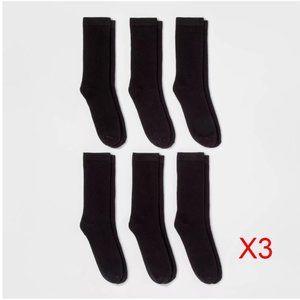 A New Day Women's Crew Socks - Black 18 Pairs